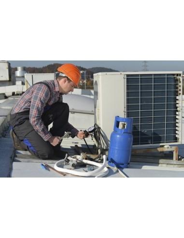 Carga de Gas R407C Refrigerante Aire...
